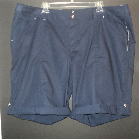 INC International Concepts Pants - NEW International Concepts Plus 20W Shorts Navy